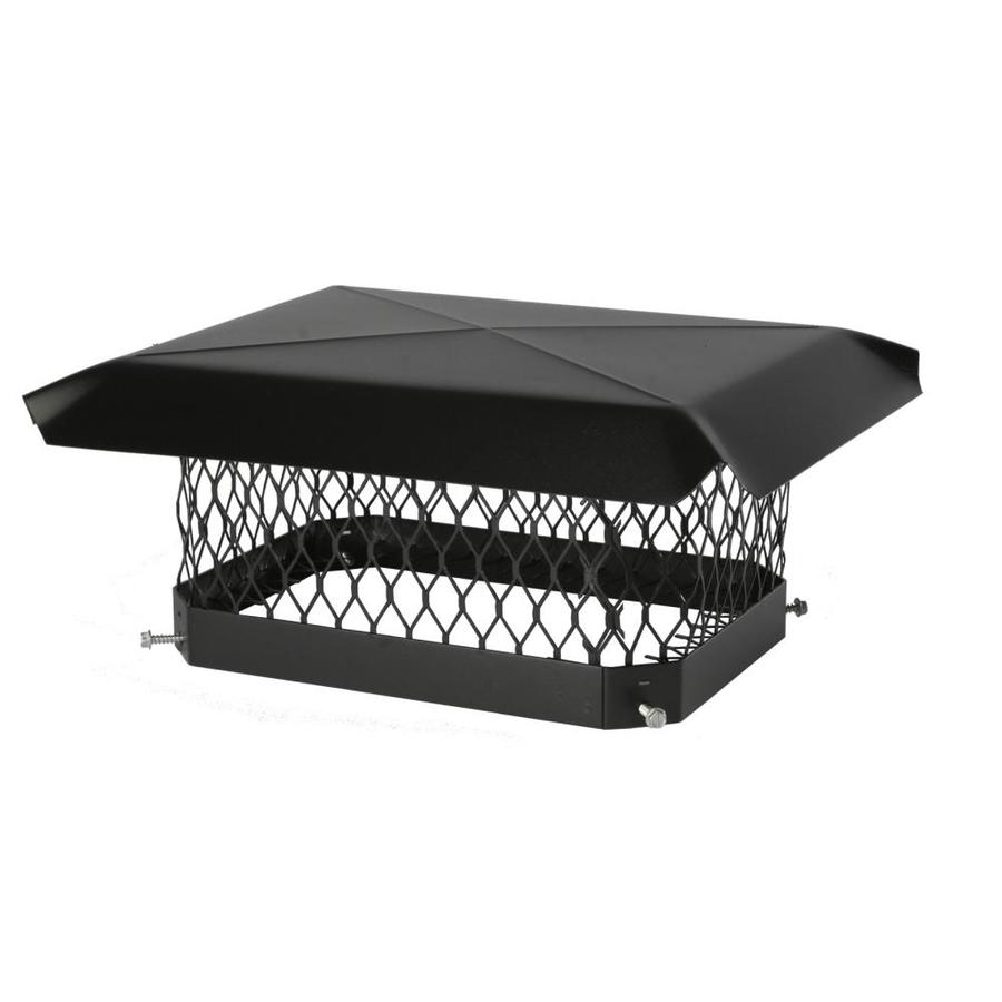 Shelter 9-in W x 18-in L Black Galvanized Steel Rectangular Chimney Cap