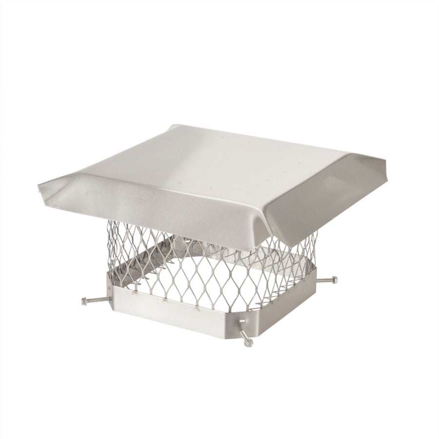 Shop Shelter 9-in W x 9-in L Stainless Steel Square Chimney Cap at ...