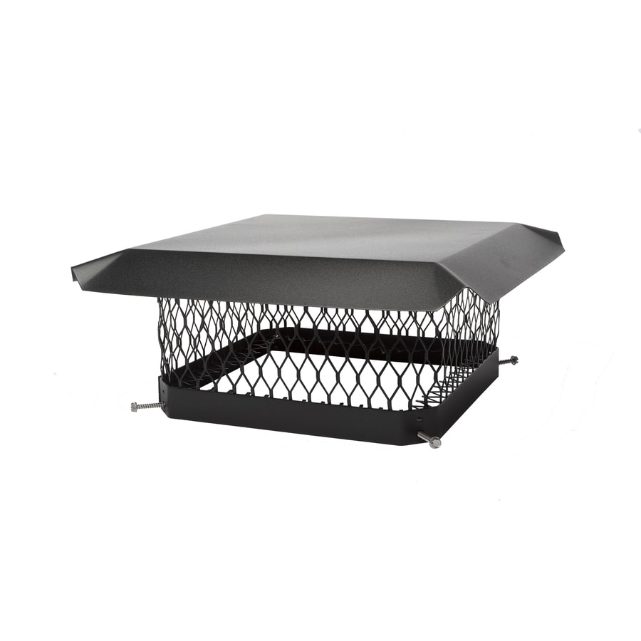 Chimney Cap Design : Shop shelter in w l black galvanized steel