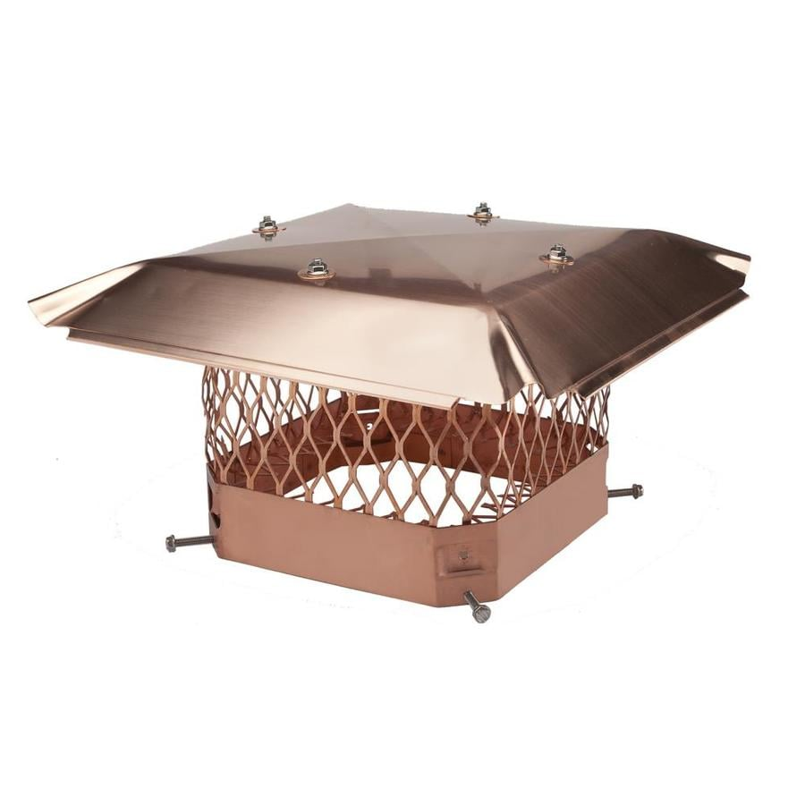 Shelter 9-in W x 9-in L Copper Square Chimney Cap