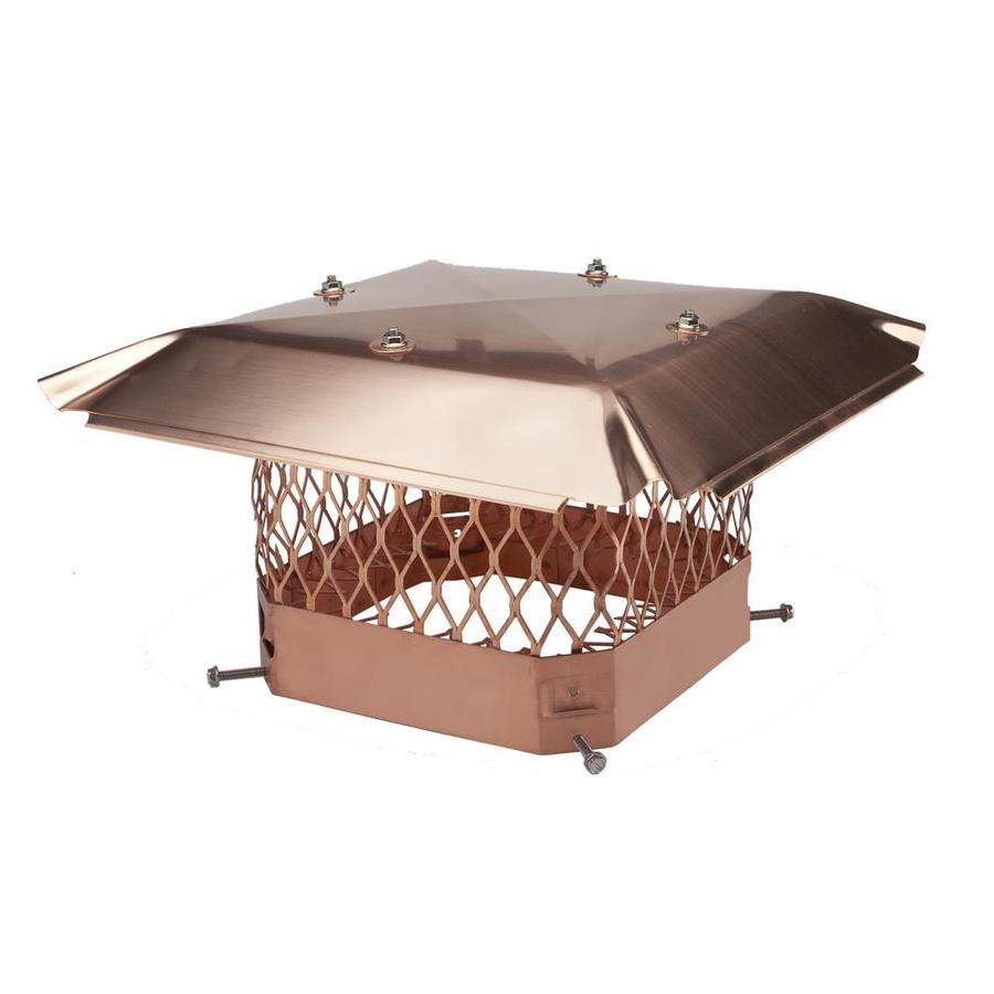 Shelter 9-in W x 13-in L Copper Rectangular Chimney Cap