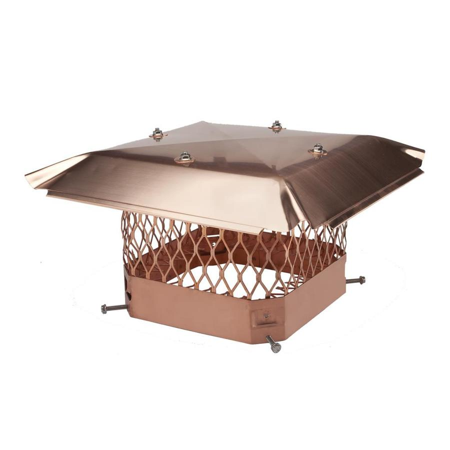 Shelter 9-in W x 18-in L Copper Rectangular Chimney Cap