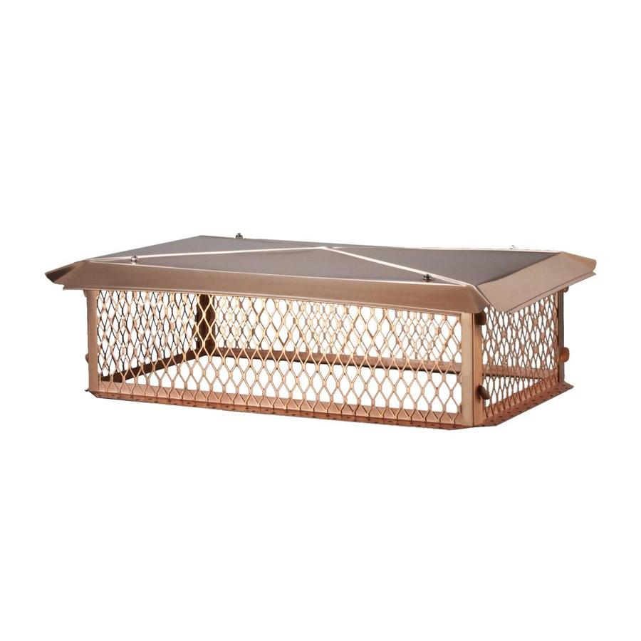 Shelter 10-in W x 14-in L Copper Rectangular Chimney Cap