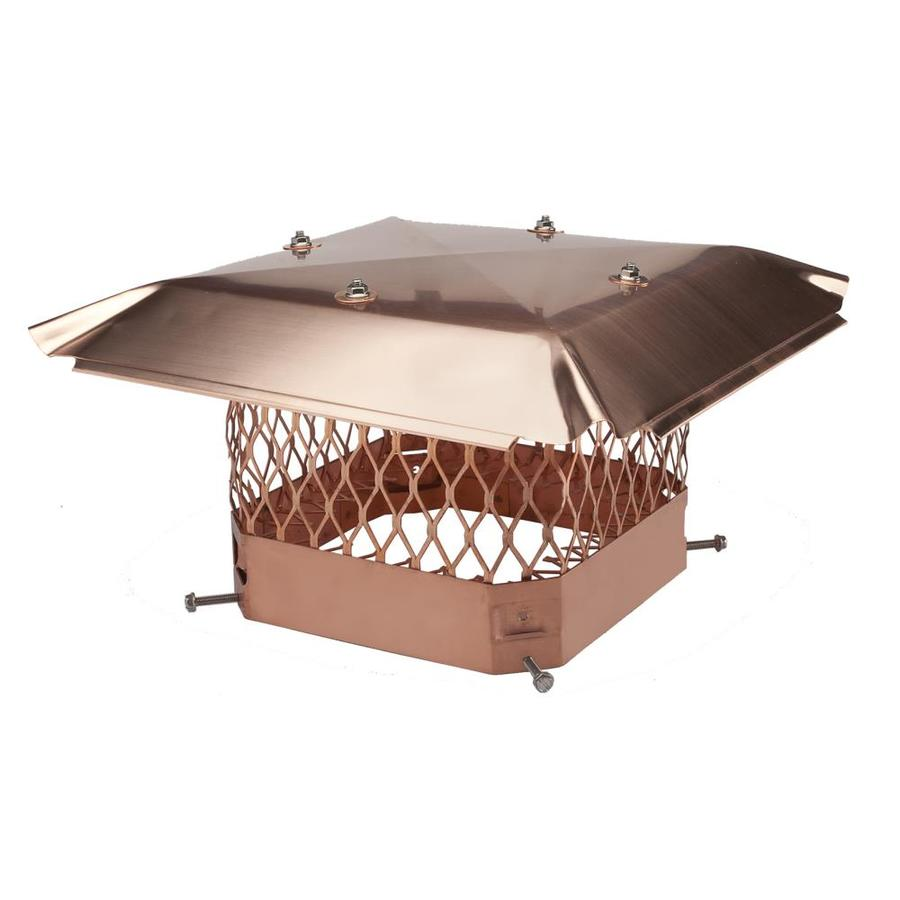 Shelter 12-in W x 16-in L Copper Rectangular Chimney Cap