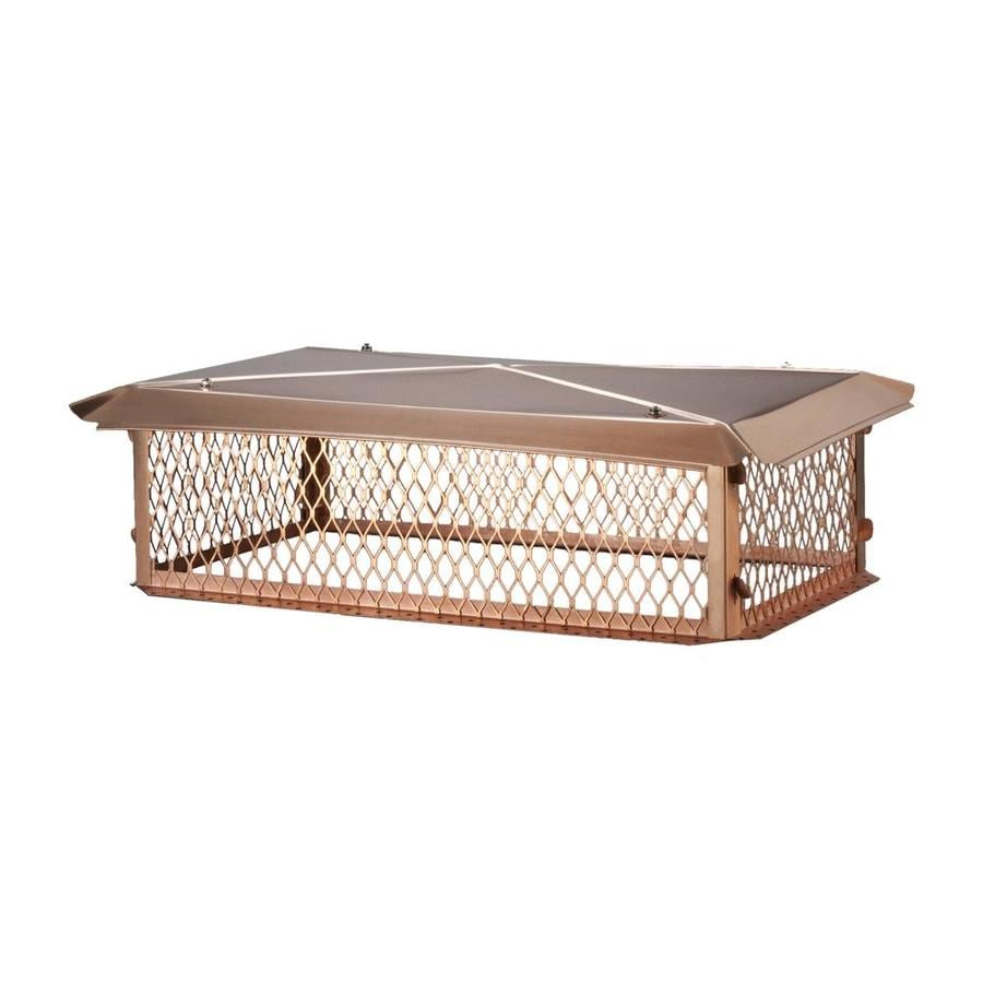 Shelter 14-in W x 34-in L Copper Rectangular Chimney Cap