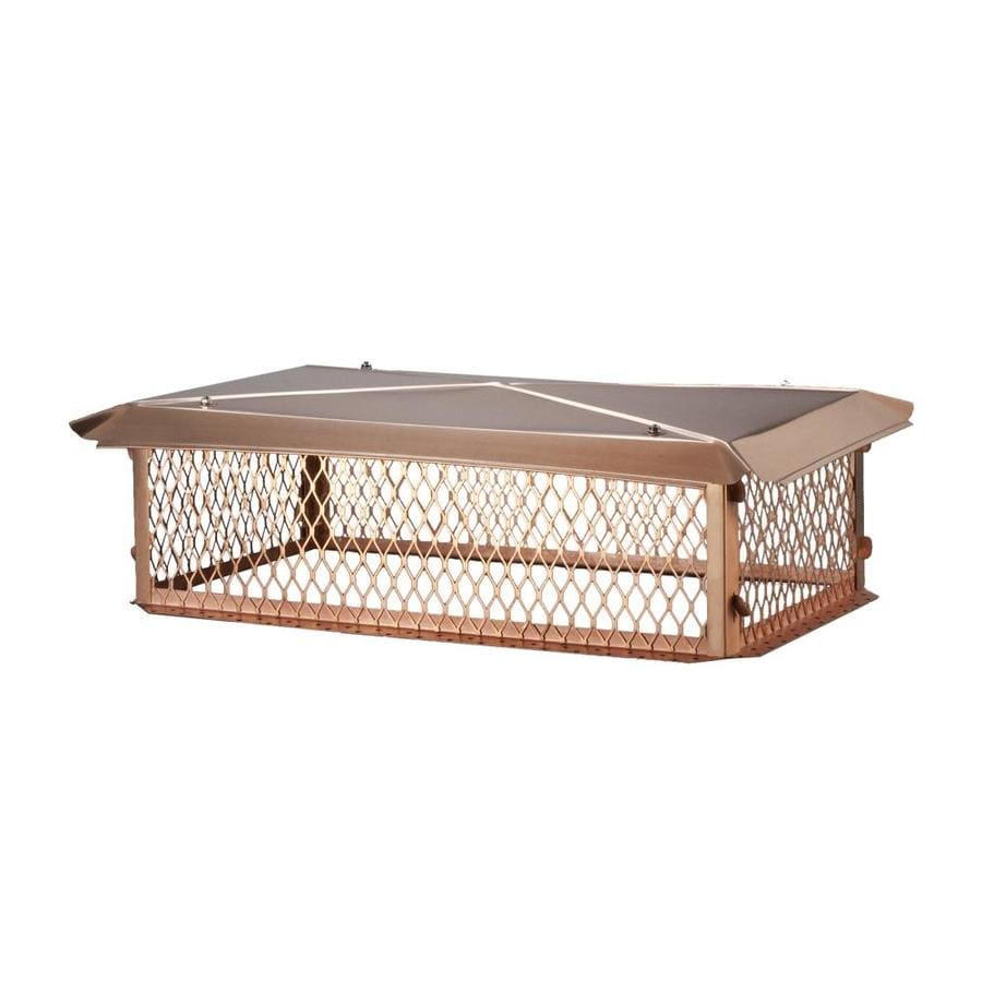 Shelter 14-in W x 26-in L Copper Rectangular Chimney Cap