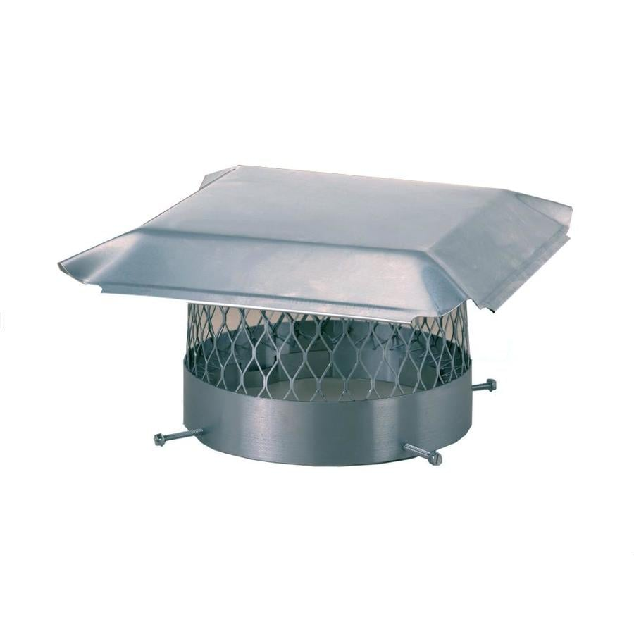 Shelter 8-in W x 20-in L Stainless Steel Rectangular Chimney Cap