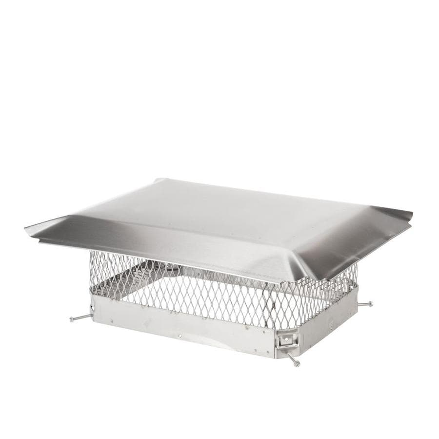 Shelter 13-in W x 17-in L Stainless Steel Rectangular Chimney Cap