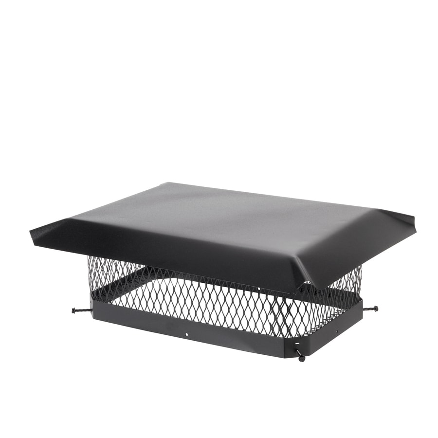 Shelter 10-in W x 17-in L Black Galvanized Steel Rectangular Chimney Cap