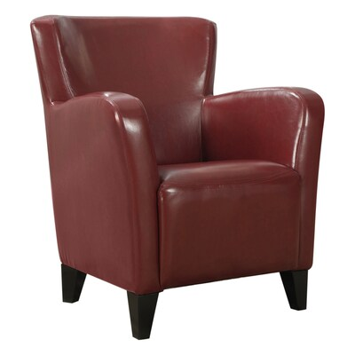 Phenomenal Monarch Specialties Modern Red Faux Leather Accent Chair At Uwap Interior Chair Design Uwaporg