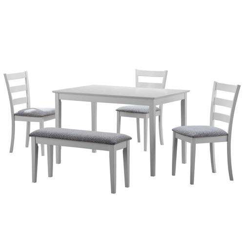 Monarch Specialties White Dining Set