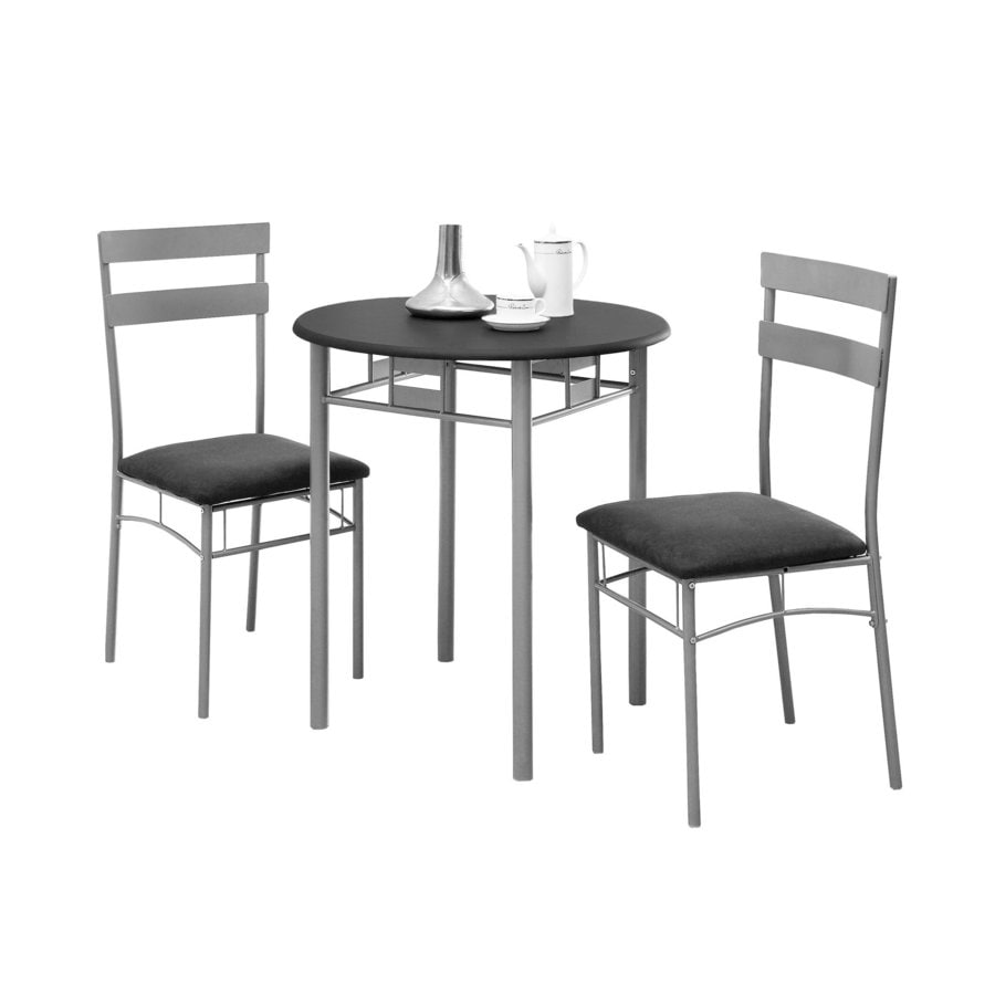 Monarch Specialties Black Dining Set With Round Dining Table
