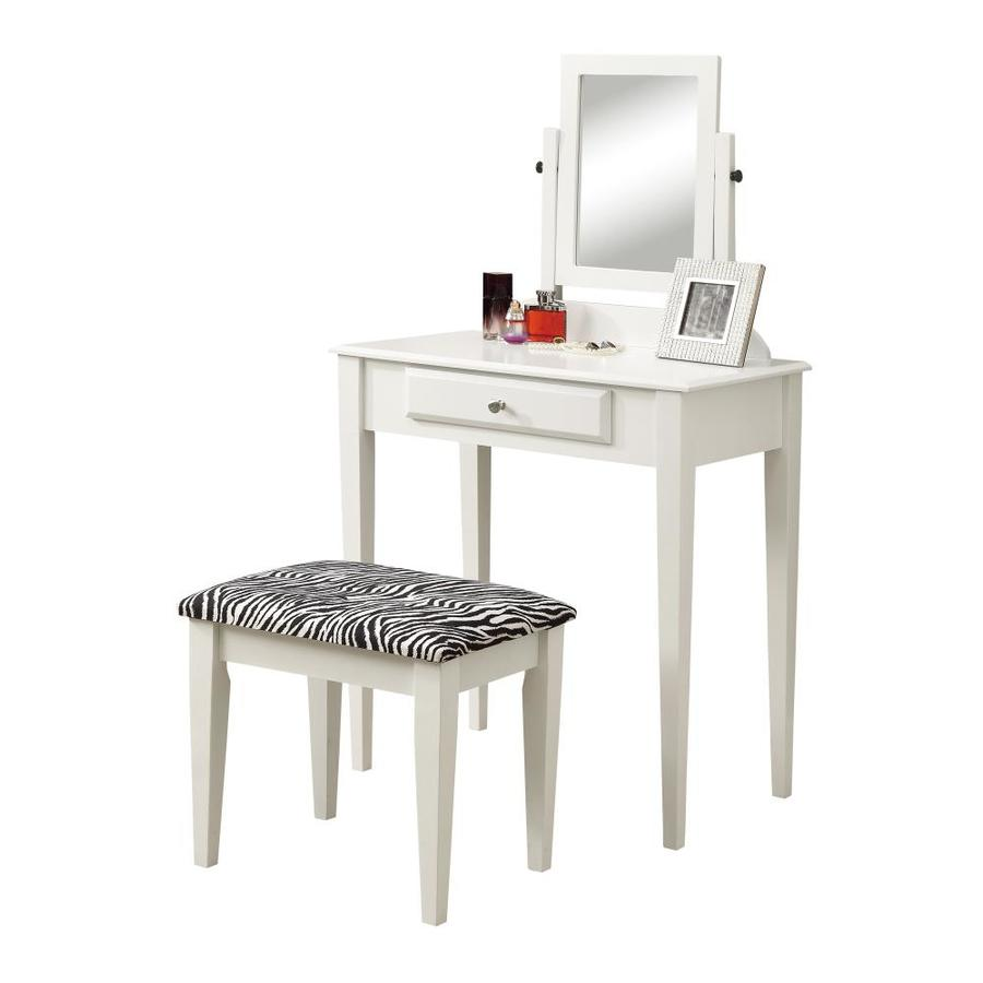 Monarch Specialties White Makeup Vanity at Lowes.com