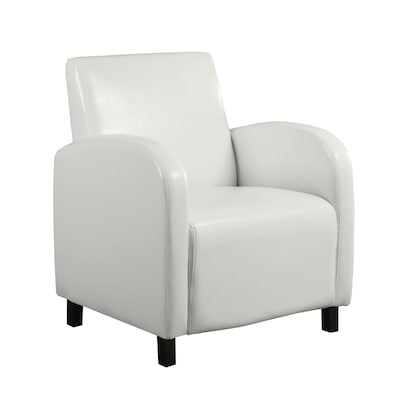 Amazing Modern White Faux Leather Accent Chair Machost Co Dining Chair Design Ideas Machostcouk
