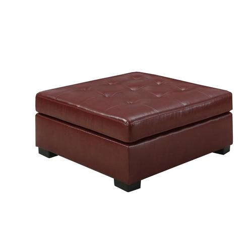 Miraculous Monarch Specialties Casual Red Faux Leather Square Ottoman Camellatalisay Diy Chair Ideas Camellatalisaycom