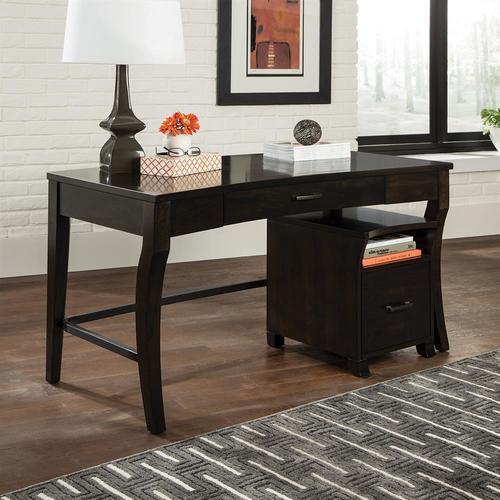 Home Office Traditional Smokey Black Writing Desk