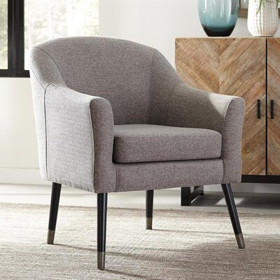 Stupendous Scott Living Accents Midcentury Grey Accent Chair At Lowes Com Andrewgaddart Wooden Chair Designs For Living Room Andrewgaddartcom