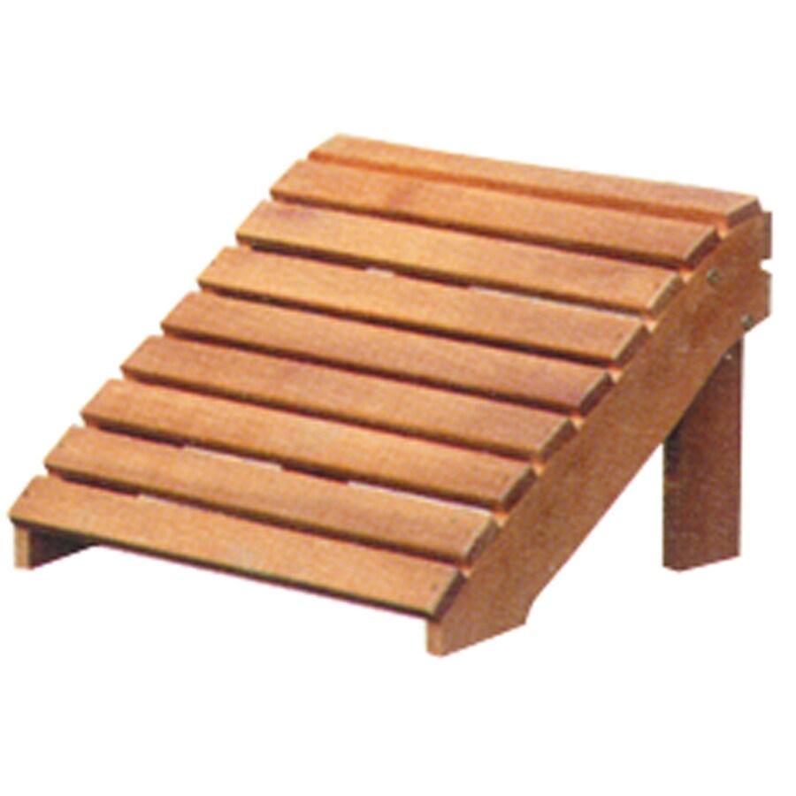 Arboria 17-in L x 20-in W x 13.5-in H Wood Ottoman