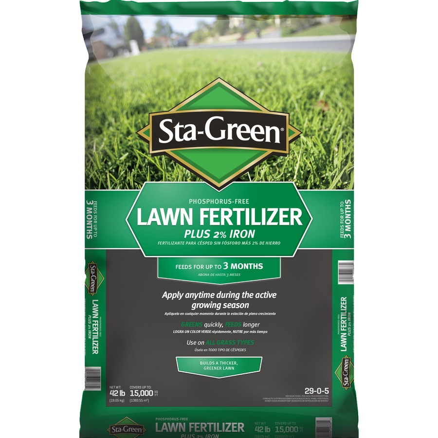 Shop Sta Green 15M Lawn Fertilizer 29 0 5 At Lowes