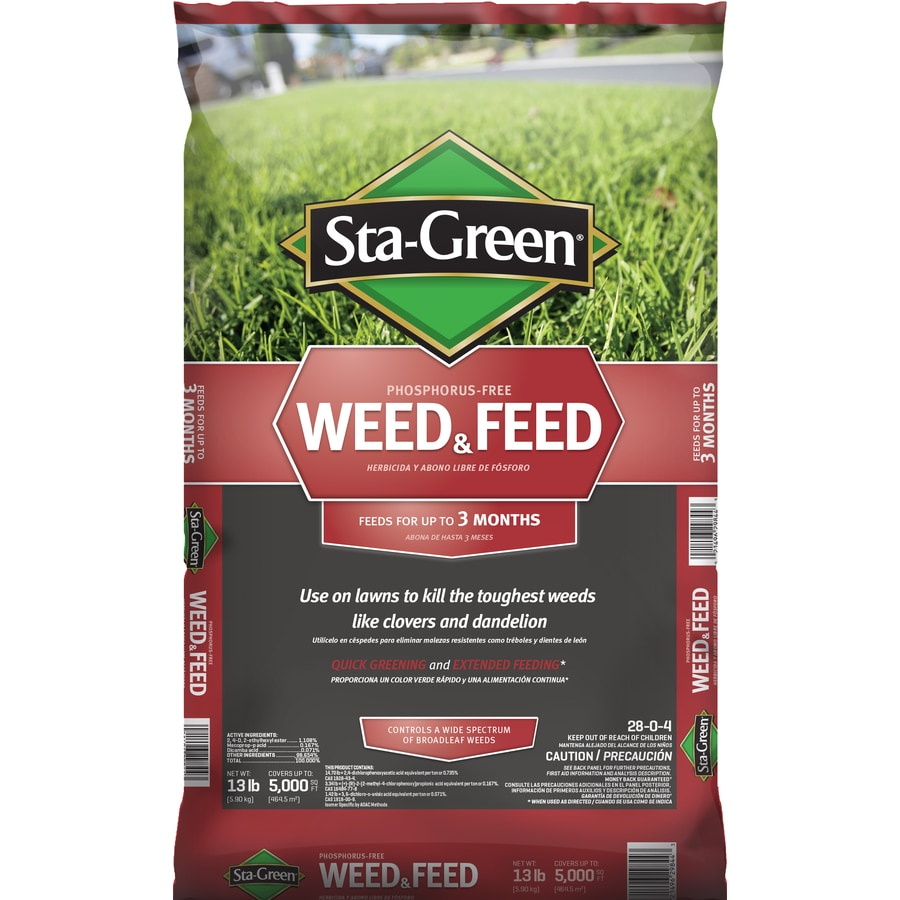 Sta-Green 5M Weed and Feed Lawn Fertilizer (28-0-4)