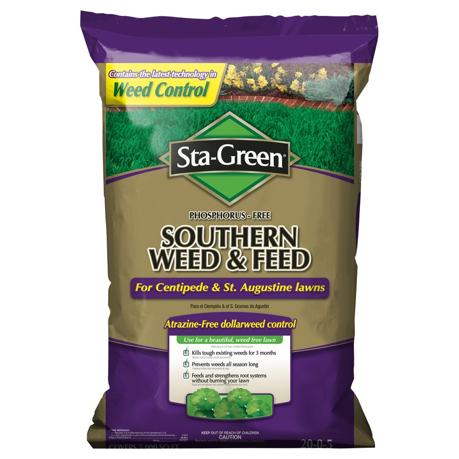 Sta-Green 5M Southern Weed and Feed Lawn Fertilizer (20-0-5)
