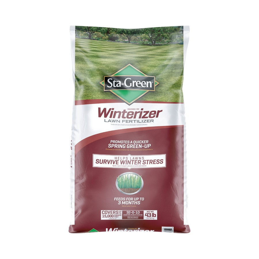 Sta-Green 43-lb Winterizer Lawn Food (32-Percentage- 10-Percentage)