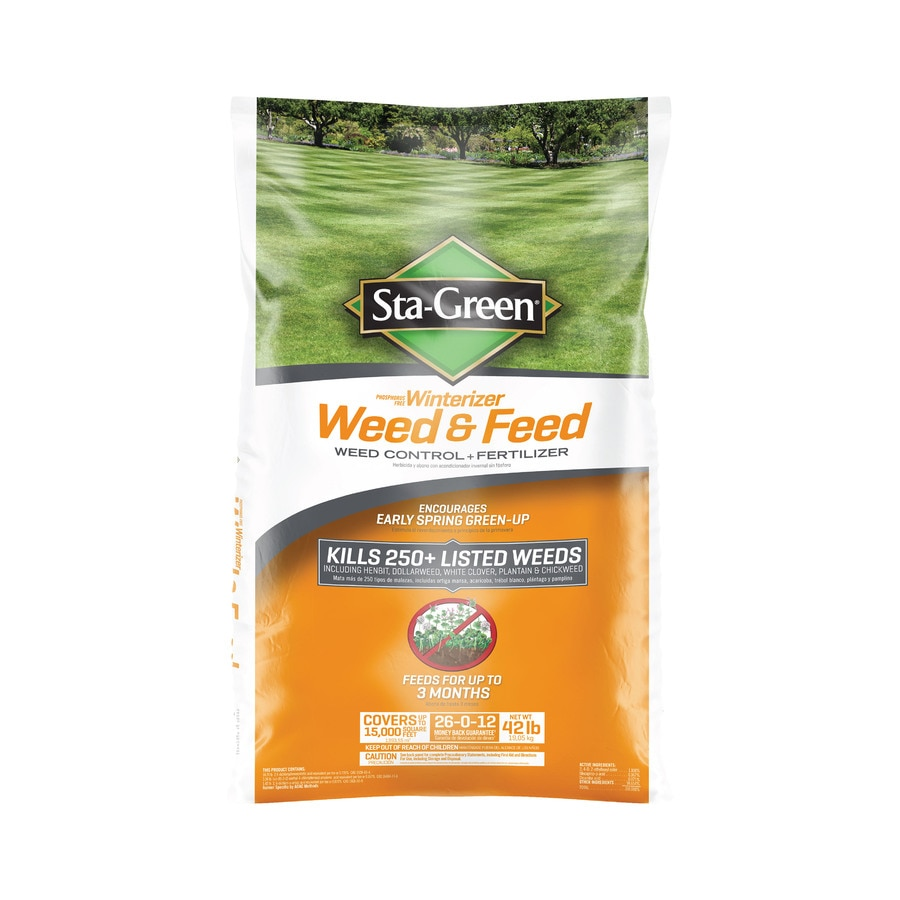 Sta-Green Weed and Feed 42-lb Winterizer Lawn Food (26-Percentage- 12-Percentage)