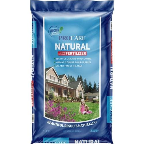 Procare 36 Lb 2500 Sq Ft 4 3 Natural All Purpose Lawn Fertilizer In The Lawn Fertilizer Department At Lowes Com
