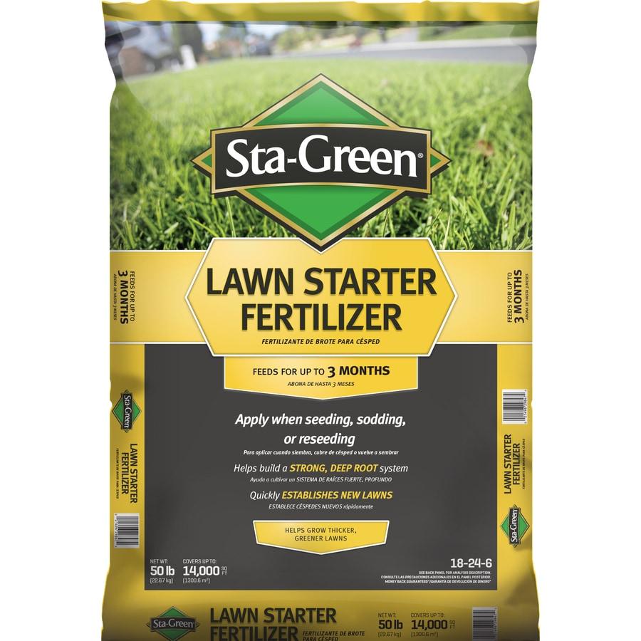 Sta-Green 14,000-sq ft Lawn Starter Lawn Fertilizer (18-24-6)