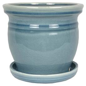 Pennington 5 91 In W X 51 H Blue Ceramic Nantucket Planter