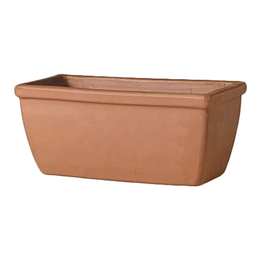 Pennington 11.02-in x 5.91-in Terracotta Classic Window Box