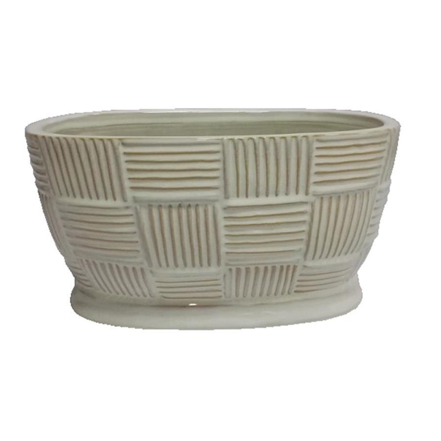 Pennington 16.929-in x 7.874-in White Ceramic Classic Window Box
