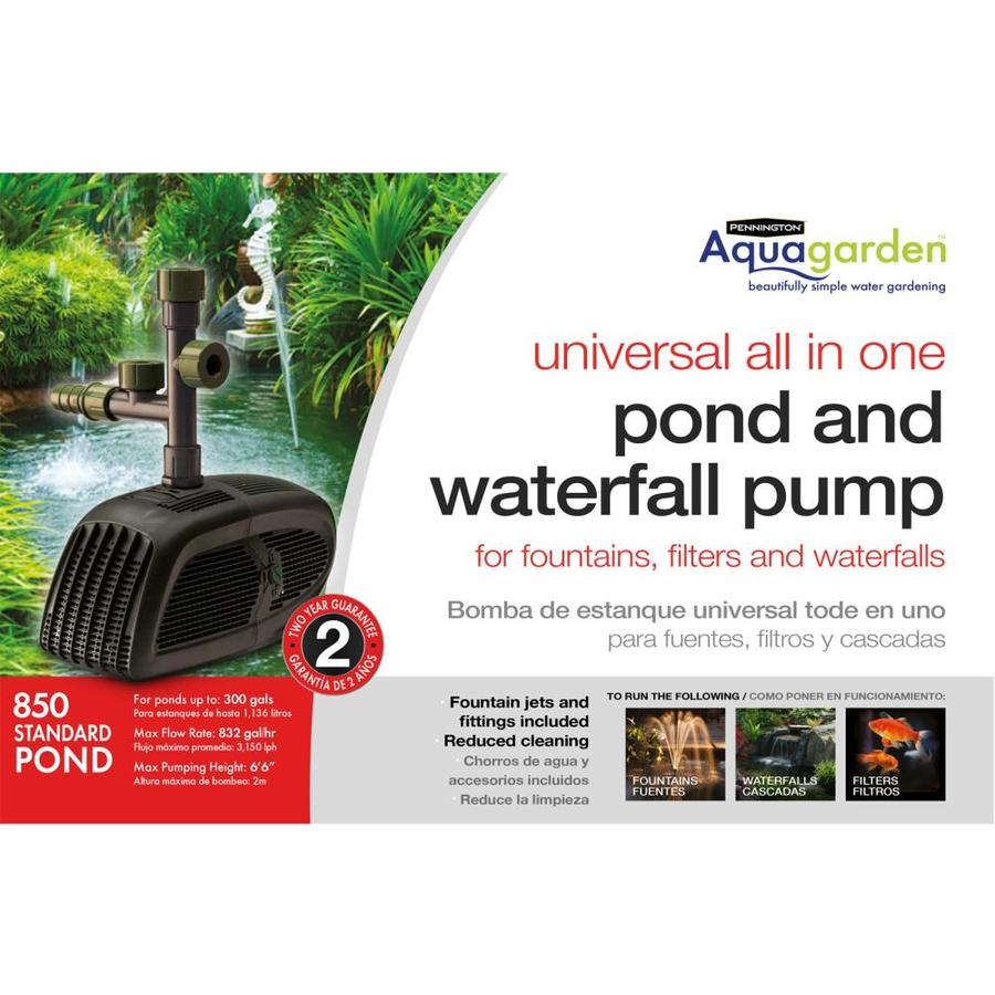 Shop pennington aquagarden universal pond pump 850 at for Koi pond kits lowes