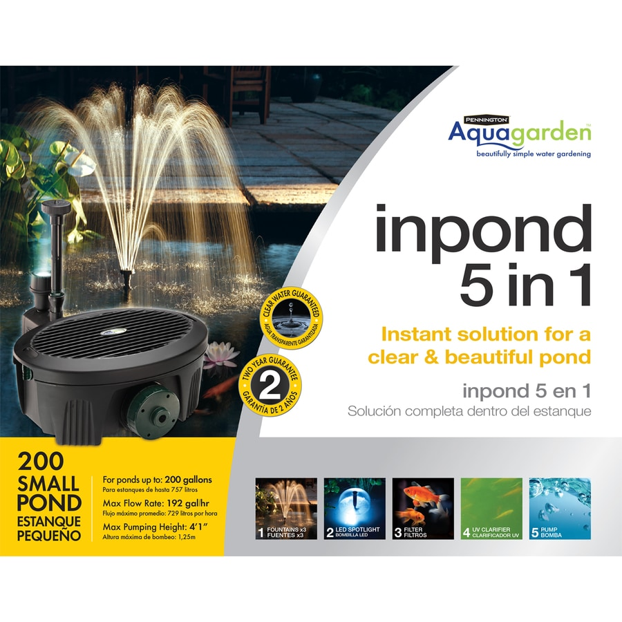Shop pennington 192 gph submersible pond pump at for Koi pond kits lowes