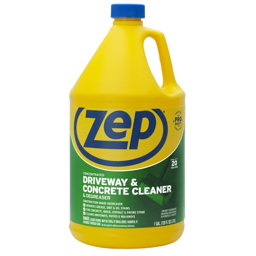 Shop zep commercial driveway and concrete cleaner 128 fl for Cleaning oil off cement