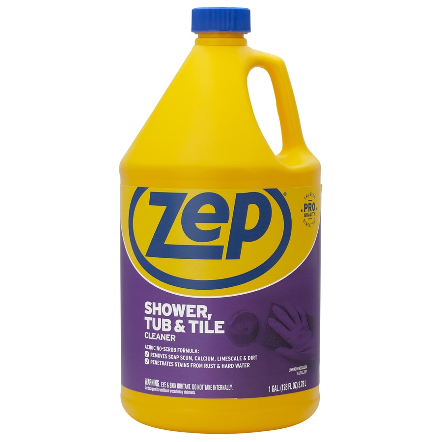 Shop zep commercial shower tub tile 128 fl oz shower for Cleaner for bathroom tiles