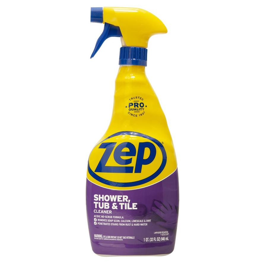 zep commercial shower tub and tile 32fl oz shower and bathtub cleaner