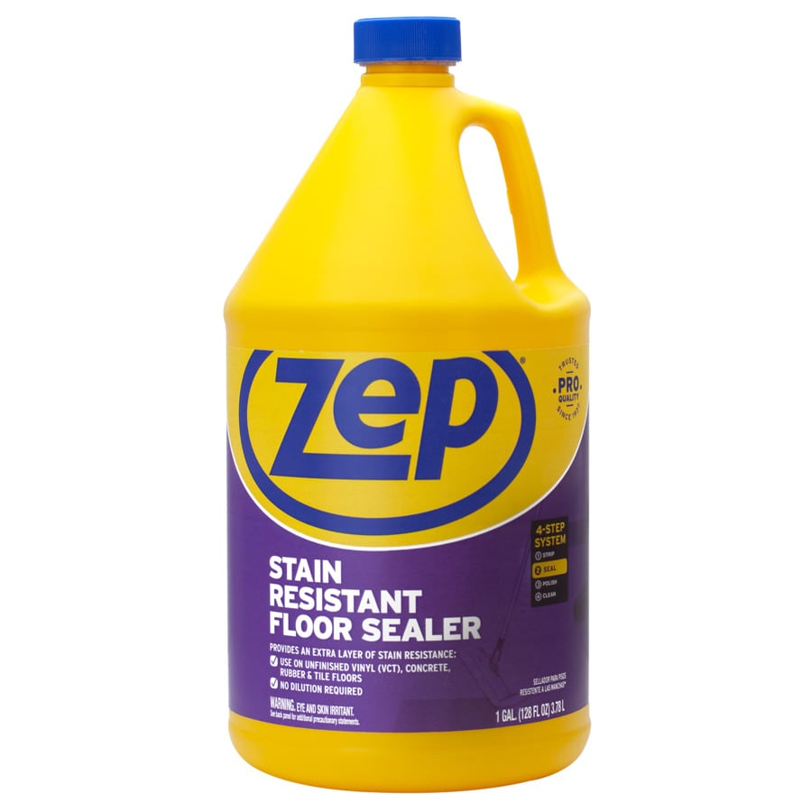 shop zep commercial 128 fl oz clear vinyl sealer and