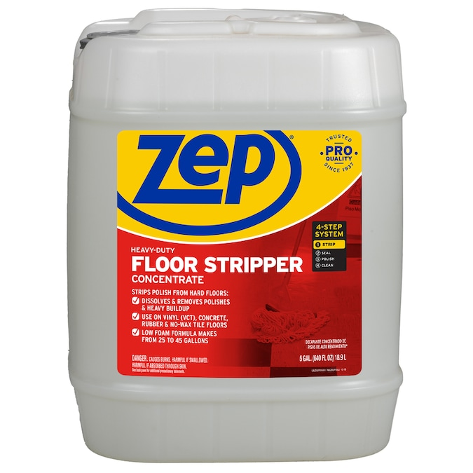 Zep Heavy Duty Floor Stripper Concentrate 5 Gallon Pour Bottle Liquid Floor Cleaner In The Floor Cleaners Department At Lowes Com