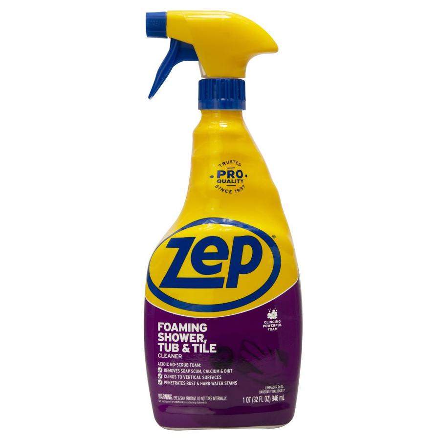 Shop zep commercial power foam tub tile 32 fl oz shower for Cleaner for bathroom tiles