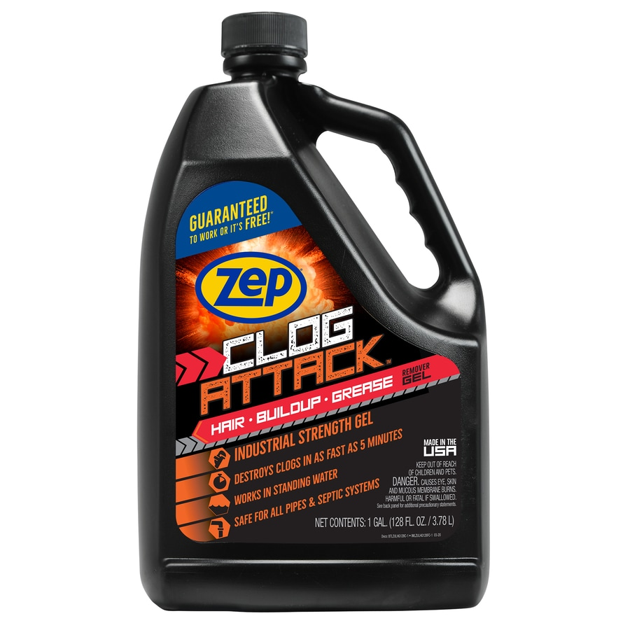 Zep Clog Attack 128 Oz Drain Cleaner At Lowes Com