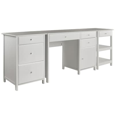 Winsome Wood Delta 3-Piece White Transitional Home Office ...