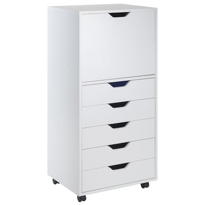 Winsome Wood Halifax White 5 Drawer File Cabinet At Lowes