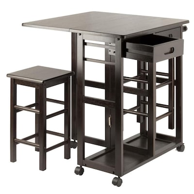 Winsome Wood Brown Casual Kitchen Cart at Lowes.com