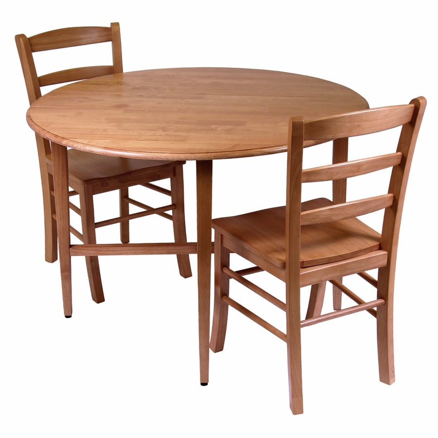 Winsome Wood Hannah Light Oak Dining Set With Round Dining Table At