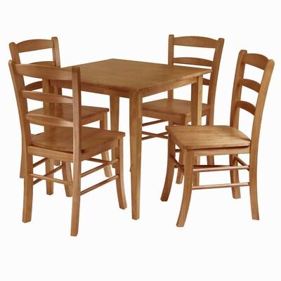 Phenomenal Winsome Wood Groveland Light Oak Dining Set With Square Theyellowbook Wood Chair Design Ideas Theyellowbookinfo