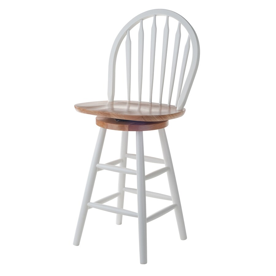Winsome Wood White Natural Counter Stool At Lowesforpros