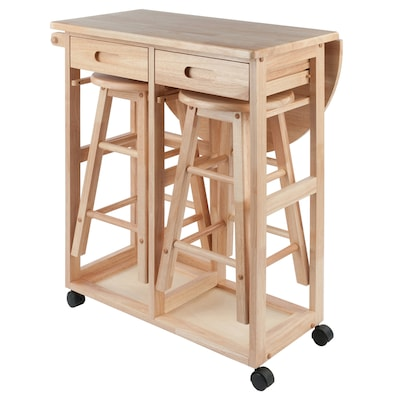 Winsome Wood Brown Farmhouse Kitchen Cart at Lowes.com