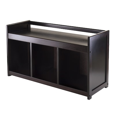 Super Winsome Wood Addison Casual Espresso Storage Bench At Lowes Com Ocoug Best Dining Table And Chair Ideas Images Ocougorg