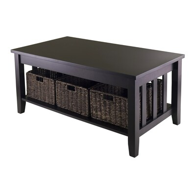 Winsome Wood Morris Espresso Coffee Table At Lowes Com